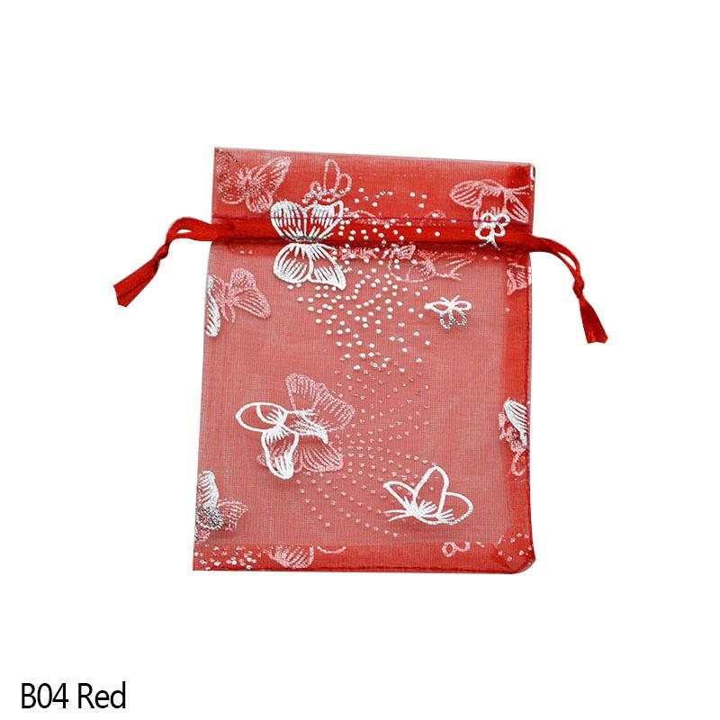 20P 7x9 9x12 11x16 13x18 15x20cm Drawable Organza Jewelry Pouches Packaging Bags Wedding Party Decoration Favors Gift Candy Bags