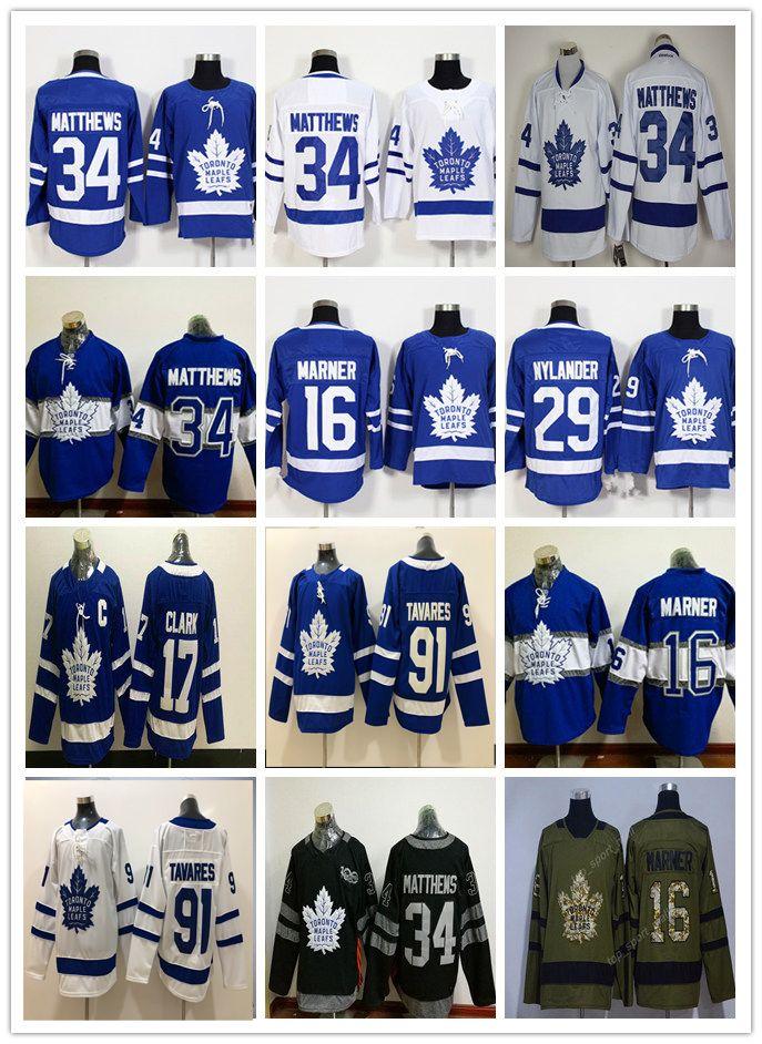 9b0ef5d5c Stadium Series 2018 Toronto Maple Leafs Jerseys Cheap Hockey 34 Matthews 91  Tavares Blue Mitchell Marner William Nylander Andersen Marleau Auston  Matthews ...