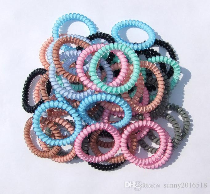 Neue Designer Zubehör Candy Farbe Telefonkabel Stirnband für Frauen Mädchen Elastisches Haar Gummibänder Haargummis Haarschmuck