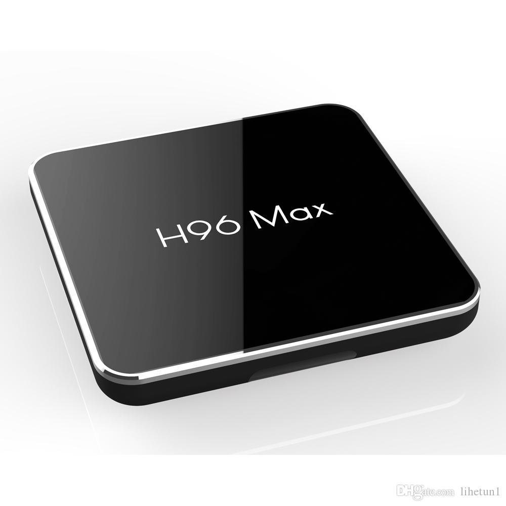 H96 MAX X2 الروبوت 9.0 TV BOX 2GB 16GB AMLogic نوع S905X2 2.4GHZ ل5GHz مزدوجة واي فاي Bluetooth4.0 تعيين كبار مربع
