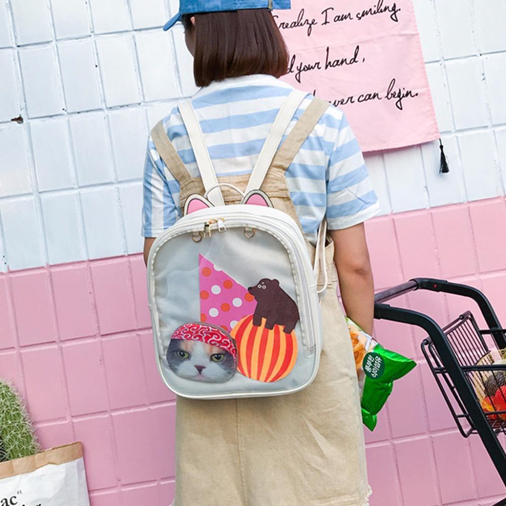 02973fe33b61 Fashion Women Small Leather Backpack Cute Girl Mini Rucksack Travel  Shoulder School Bag Bookbags 2018 New Brand THINKTHENDO Designer Backpacks  College ...