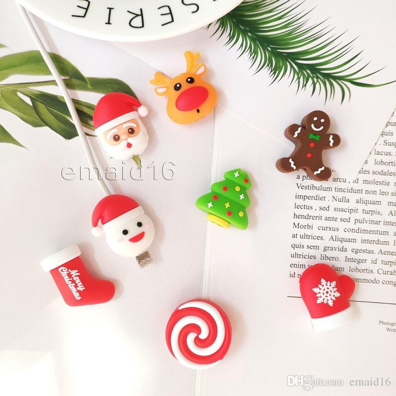 99752975 Christmas Cable Bite Charger Cable Protector Savor Cover for iPhone  Lightning Cute Animal Design Charging Cord ProtectiveCable Data Line Pro