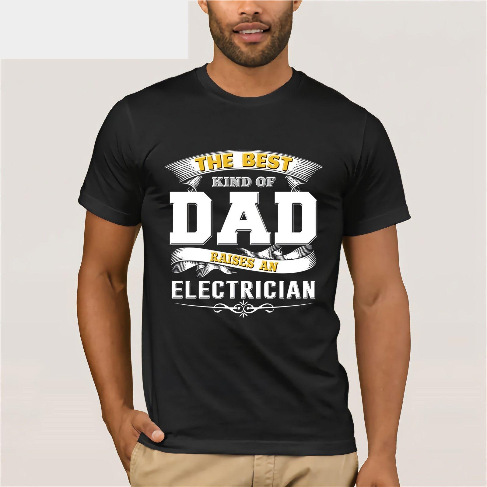 d234e6b1f Men's Electrician T Shirt Funny Dad Tee Papa Work Men Shirt Funny black men tee  shirt cotton free