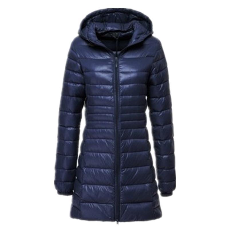 big sale 977e2 711e0 Cappotto da donna lungo cappotto caldo invernale da donna ultra leggero 90%  Piumino d anatra bianco cappotto da donna pesante con cappuccio 6xl