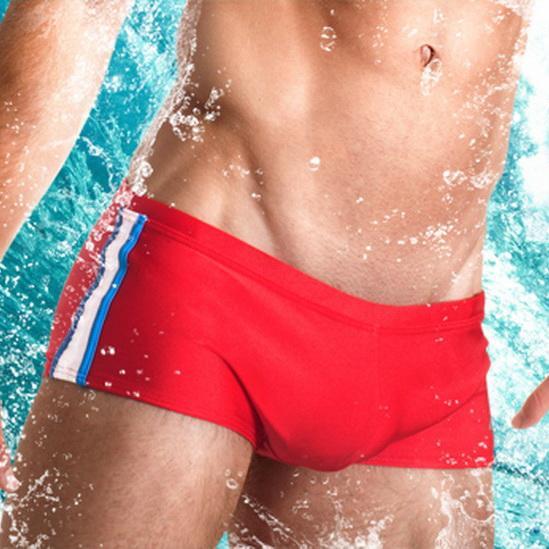 d8b02f5e94 NEW Mens Man Swimwear Swimsuits Low Waist Designed Men Swim Boxer ...