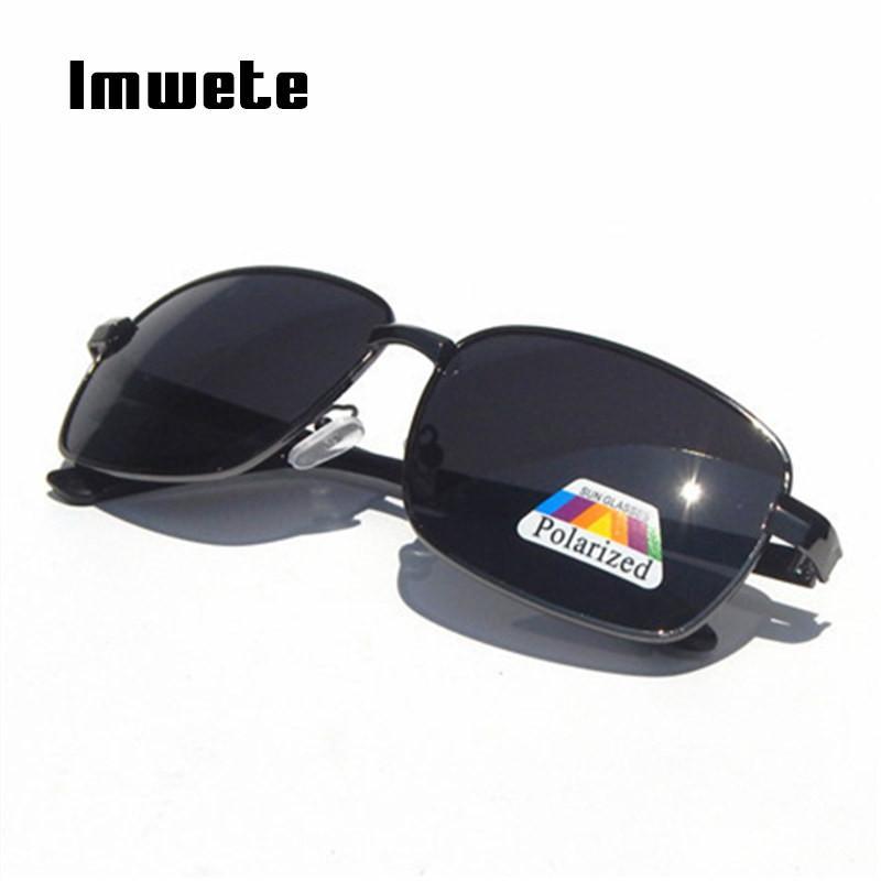85812eca31dfe Imwete Polarized Sunglasses Men Classic Designer Rectangle Goggles ...
