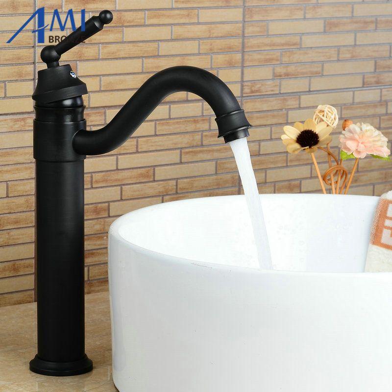 blacked 360 swivel bathroom basin brass faucets sink faucet crane