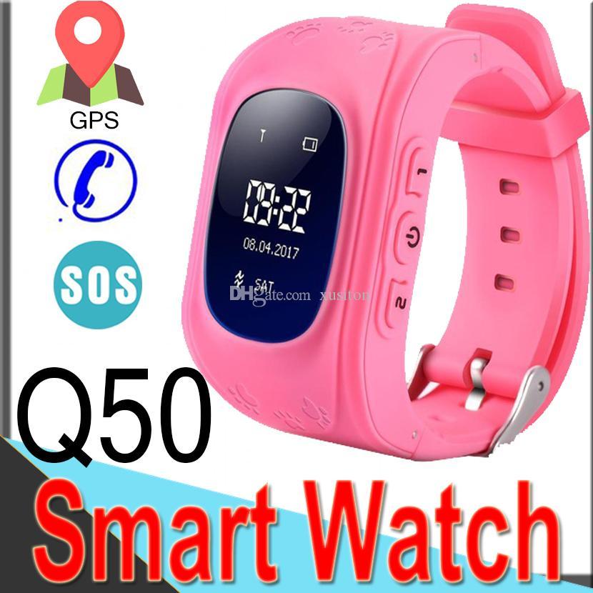 8e74f0e1cd5b Comprar Relojes Baratos Reloj Inteligente Q50 Niños Reloj De Pulsera GSM  GPS LBS Localizador Rastreador Relojes Anti Perdidos Para Niños Como Regalo  De ...