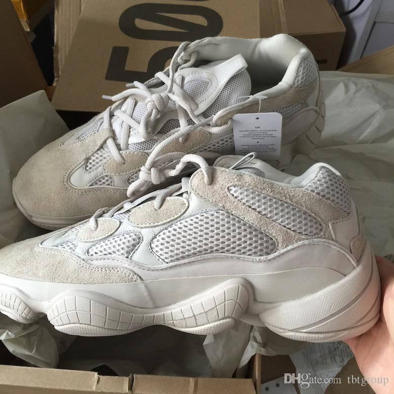 sale retailer 68da1 8750e Designer Sneakers Blush Desert Rat 500 Kanye West 500 SUPPER MOON YELLOW  UTILITY BLACK F36640 Cow Leather Mens Running Shoes