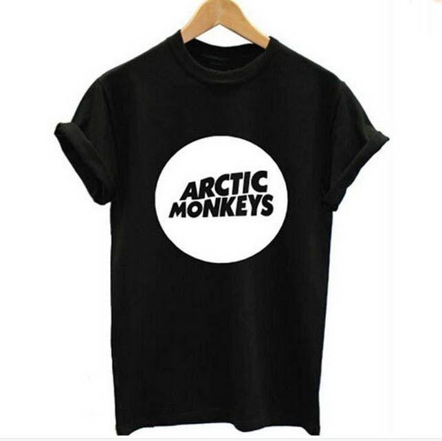55a30d59 Arctic Monkeys Men's Tee Shirt Indie Rock And Roll Short Sleve O - Neck  Loose Thisrts Music Brand Summer New Hip Hop Men T Shirts