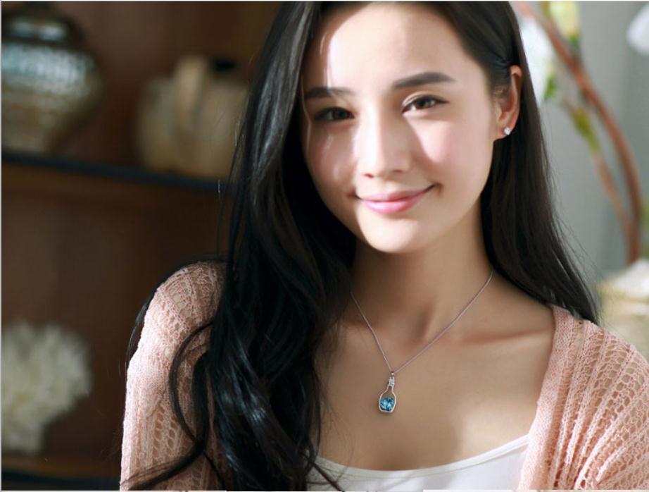 الحب الروماني الرغبات الانجراف زجاجة شكل قلب كريستال المعلقات قلادة الإناث المجوهرات بوهيميا قلادة للنساء