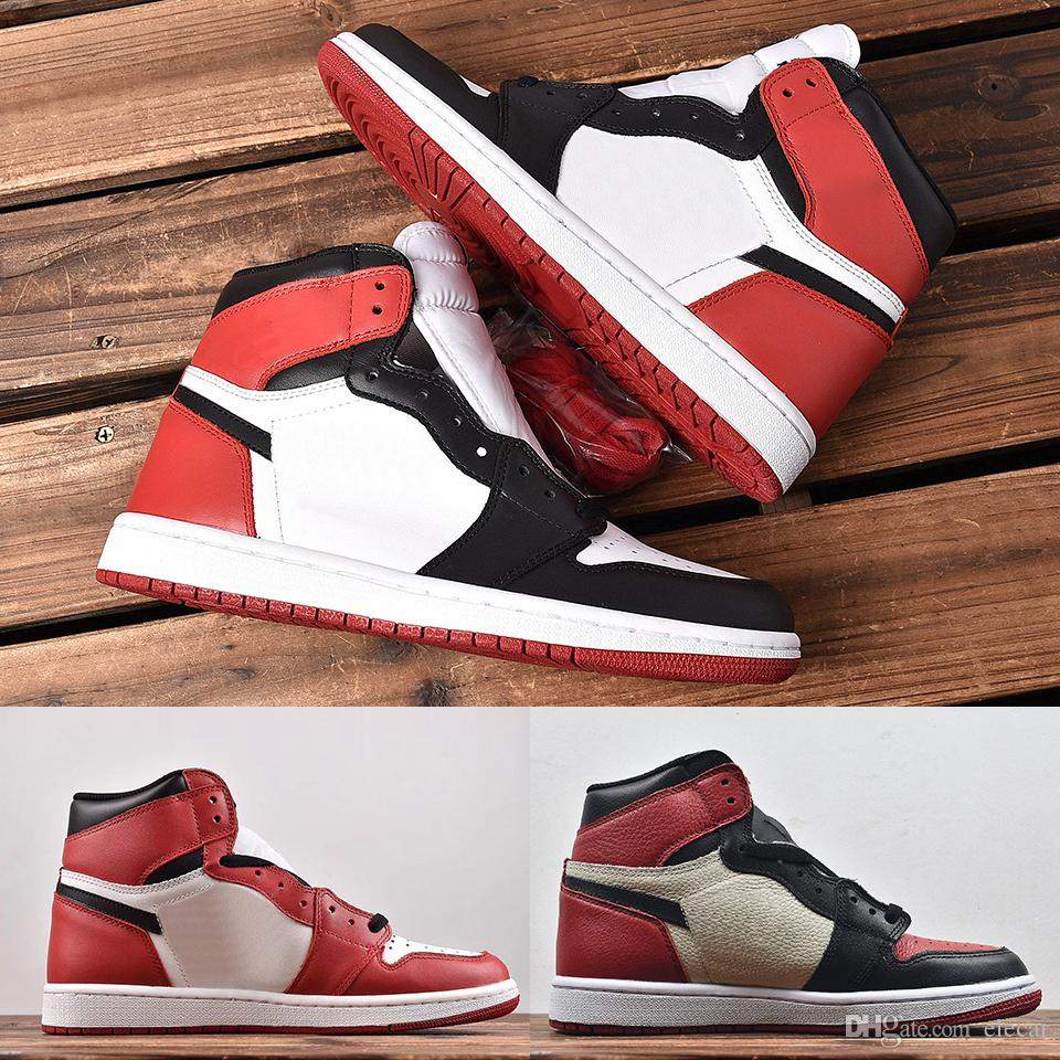 Top 1 High OG basketball shoes mens Top 3 Chicago game royal 1s banned sneakers fragment bred toe leather trainers size US7-12