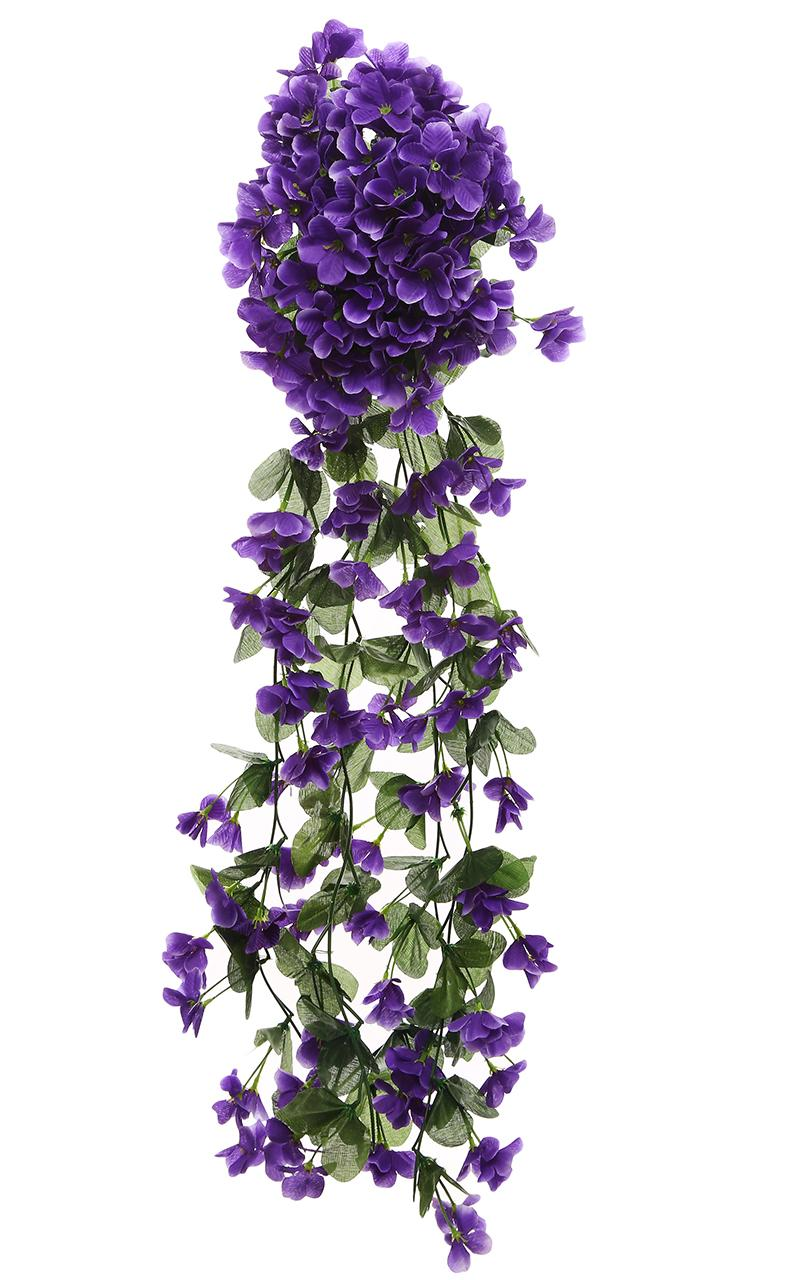 Violet Artificial Flowers DIY Door Lintel Mirror Flower Vine Artificial Green Plant Silk Fake Flower For Wedding Home Decoration
