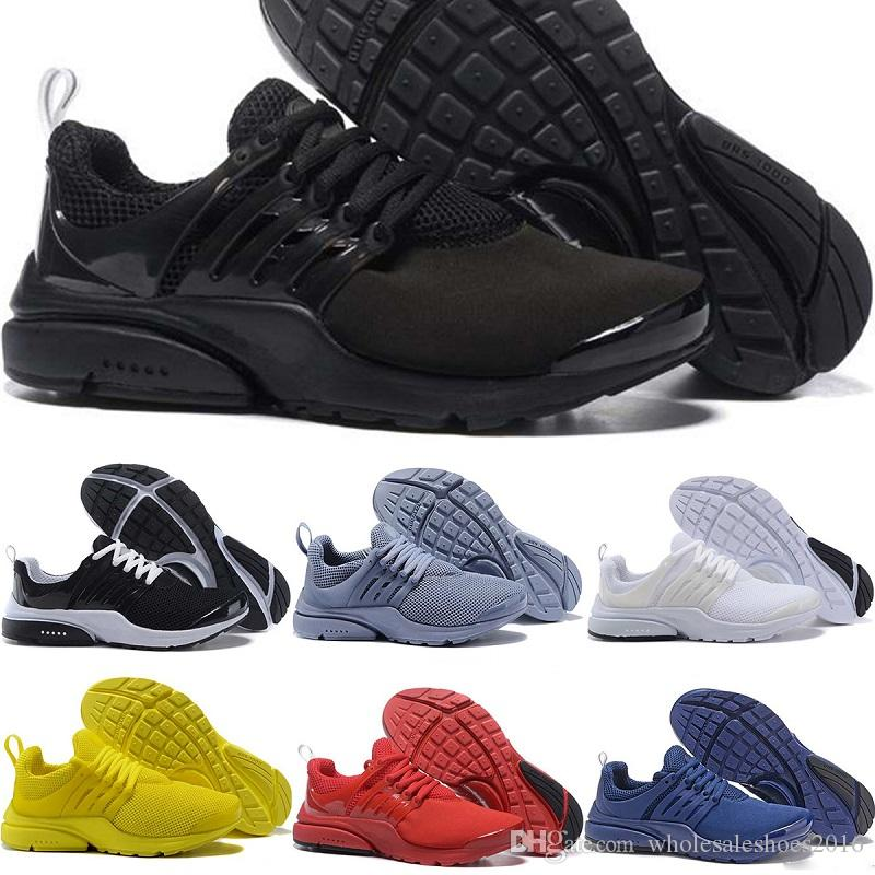 New Designer Presto BR QS Mens Womens Running Shoes Triple s White Black Oreo Red Yellow Blue Grey Men Sports Sneakers 36 45