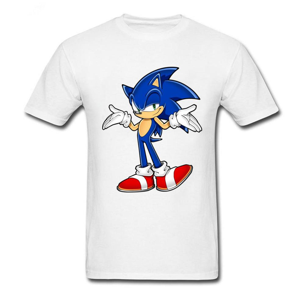 2018 Cheap Sale 100 % Cotton I Don T Know Hedgehog Funny T-shirt For Man Cartoon Print Short Sleeve Custom Tops