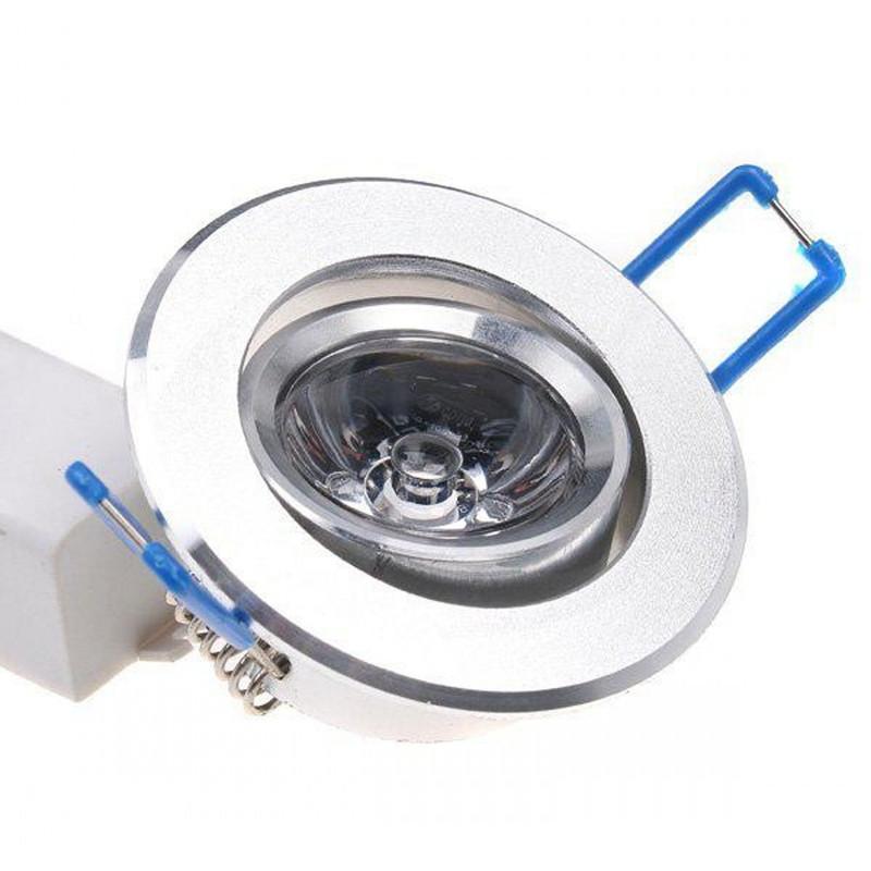 RGB Downlight 3W LED Luces de techo Empotrable LED RGB Downlight con controlador AC85-265V y control remoto IR de 24 teclas