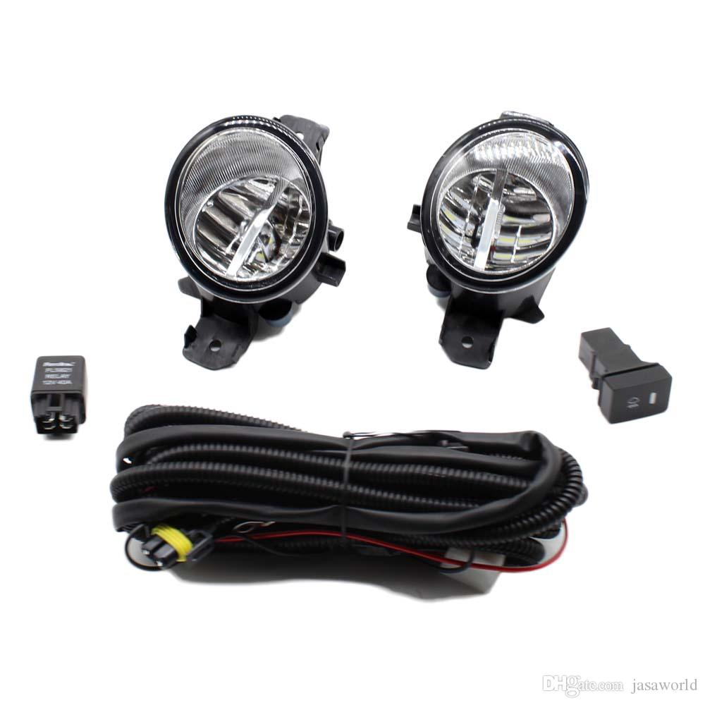 For Renault Laguna Sport Tourer 01 12 H11 Wiring Harness Sockets Led Drl Switch Wire Connector 2 Fog Lights Front Bumper Lamp Car In