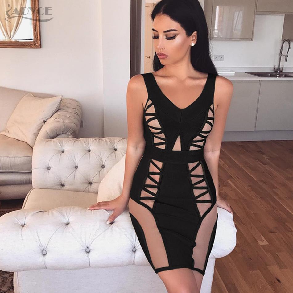 3c4bfe19a1b 20187 Adyce 2018 New Women Summer Bandage Dress Sexy Green Black Off ...