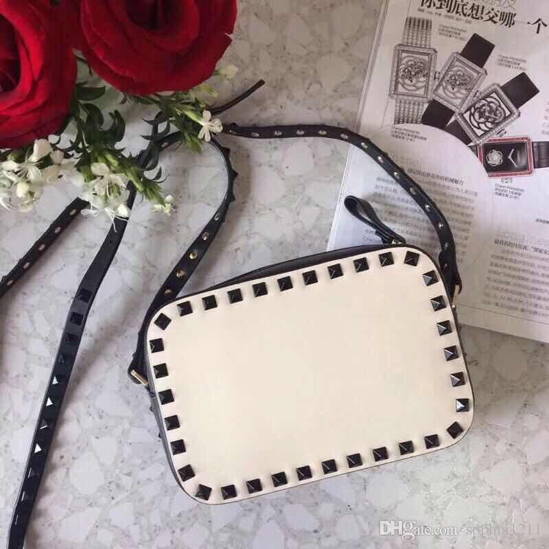 2018 New Fashion Handbag ShoulderBag Lady Bag Gold Rivet Valentine's Day Bags Camera Bag Clutch Small Box Blank Nude Red Wine Brown Colors