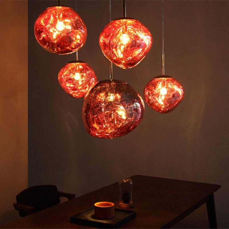 Modern D30 40cm Tom Dixon Melt Pendant Lights Glass Lava Irregular