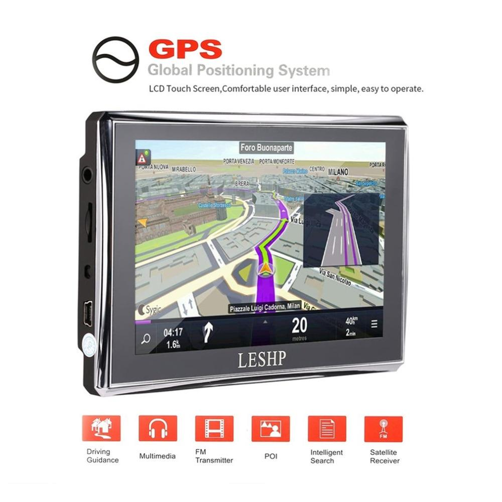 2018 leshp hd car gps global positioning system touch screen