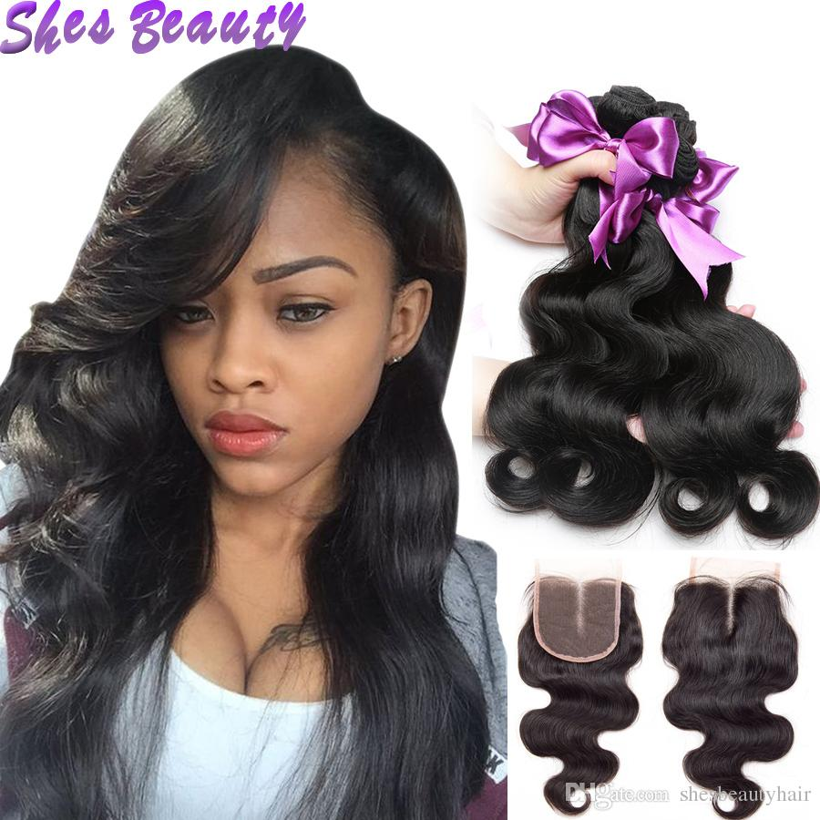 Good Quality Body Wave Hair Bundles With Closure 100 Unprocessed