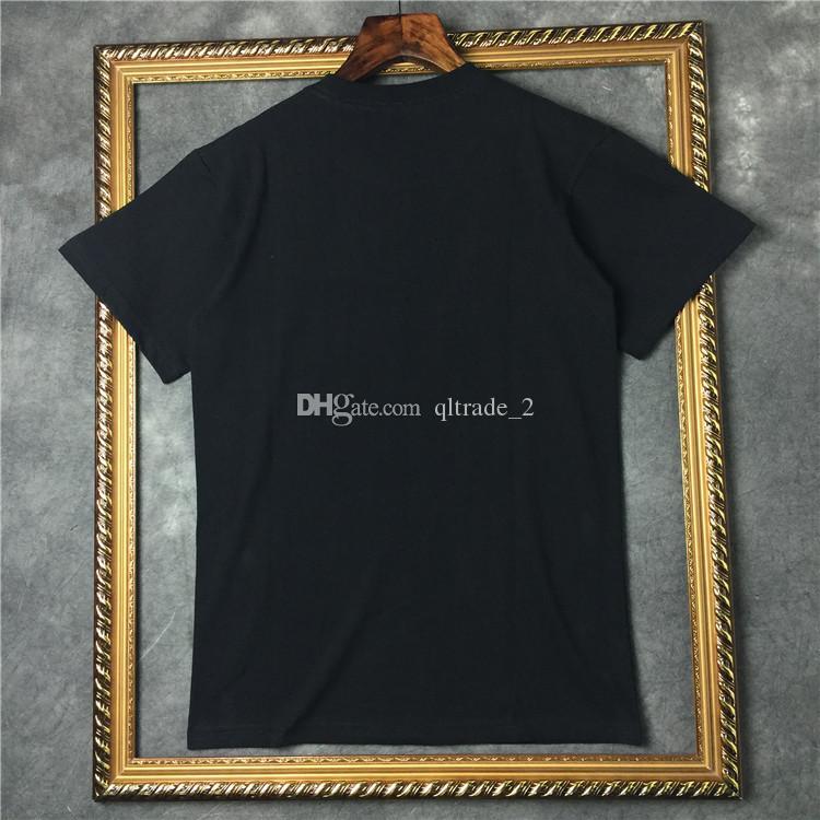2018 street fashion T-Shirt Blood tooth Stampa t-shirt da uomo estate T-shirt a maniche corte in T-shirt a maniche corte in cotone