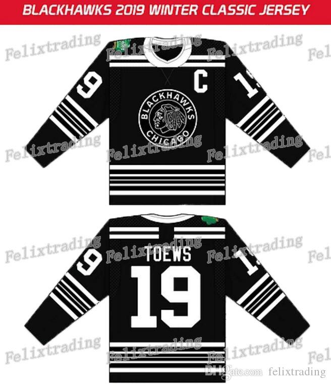 cozy fresh cbf28 9680e 2019 Winter Classic Custom Chicago Blackhawks Jonathan Toews Patrick Kane  Alex DeBrincat Duncan Keith Hull Corey Crawford Hockey Jersey