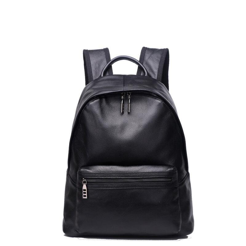 208b36eb0cfb 100% Genuine Leather Backpacks New Women Designer Brand School Bags For  Teenage Girls Black Big Capacity Travel Laptop Backpack Hydration Backpack  Womens ...