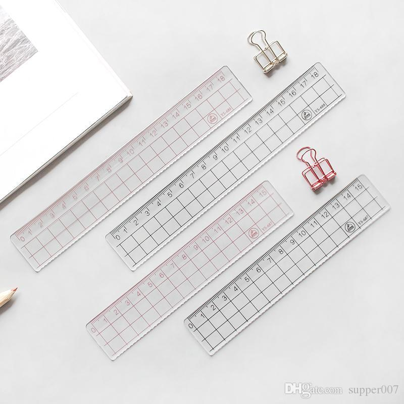 MUJI STYLE 15cm 18cm 20cm Transparent Simple Ruler Acrylic Ruler ...