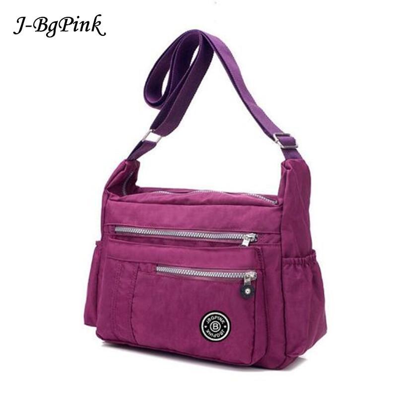 J BG PinK Women Famous Brand Big Nylon Shoulder Beach Bag Casual Tote Female  Crossbody Bags Sac Femme Bolsa Feminia 2018 New Messenger Bags For Men Hobo  ... b70366f5b9689