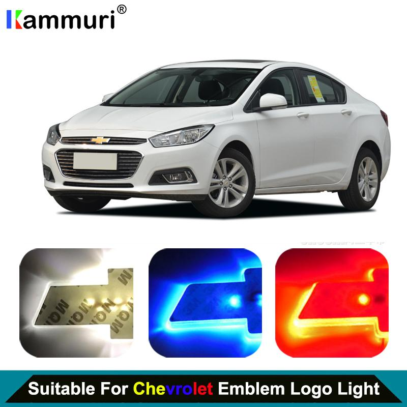 Car Styling led emblem Badge Logo Light for  captiva aveo lacetti spark cruze niva LED Emblem Badge Logo Light