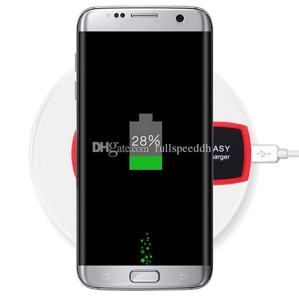 Nuovo caricabatterie rotondo in cristallo con caricabatterie wireless ricevitore Iphone Samsung I00024