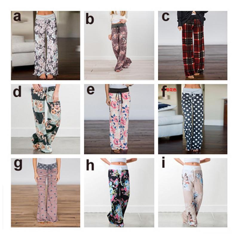 Women Floral Print Yoga Palazzo Trousers Pants 32 Style Wide leg Trousers Ties Design Loose Sport Harem Pant High Waist Cool Boho Pants 3XL