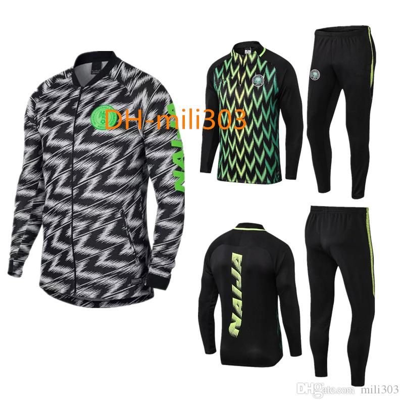 2019 New 2018 Nigeria Soccer Jacket Training Suit 18 19 IWOBI Chandal  Nigeria STARBOY Okocha Jerseys Set Football Training Suit Pants Sportswear  From ... 8e8f16f3e