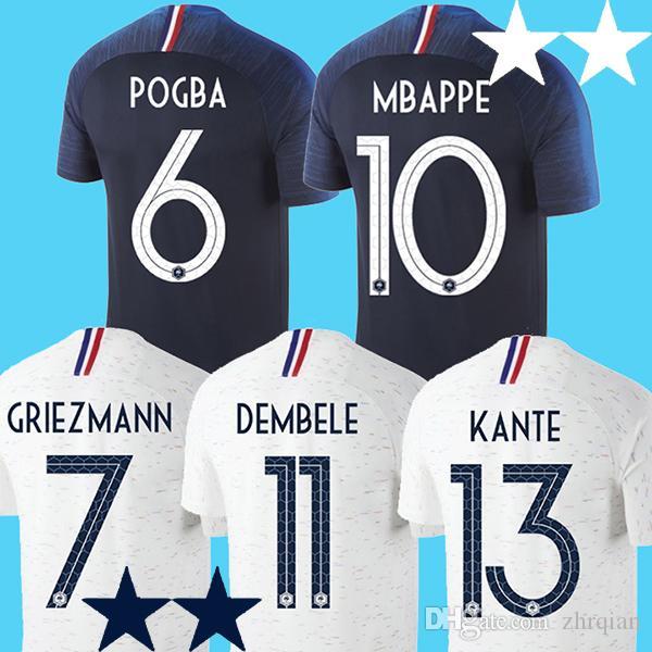 2018 MBAPPE Soccer Jersey LACAZETTE Football Shirt Pogba Griezmann . c73e4444370c2