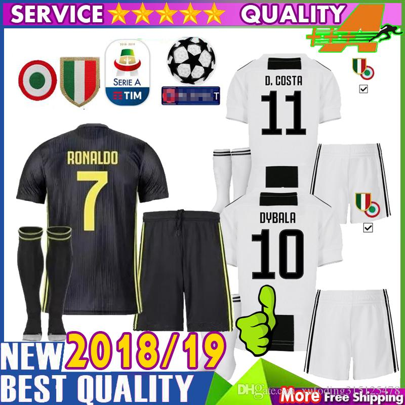 buy popular 2bd32 3a232 Best quality kids kit 18 19 Juventus home away Soccer Jerseys 2018 2019  Juventus RONALDO Soccer Shirt MANDZUKIC football uniform