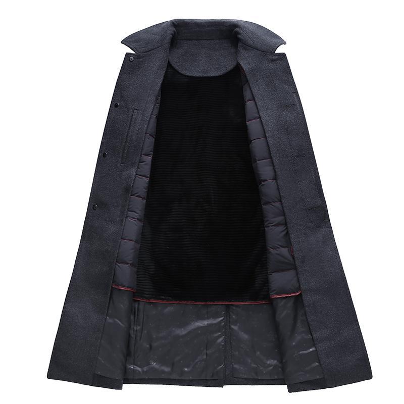 2017 más el tamaño 7XL 6XL Alta calidad Nuevos hombres de la moda otoño e invierno Abrigo de lana hombres cortavientos marea hombres trajes de abrigo