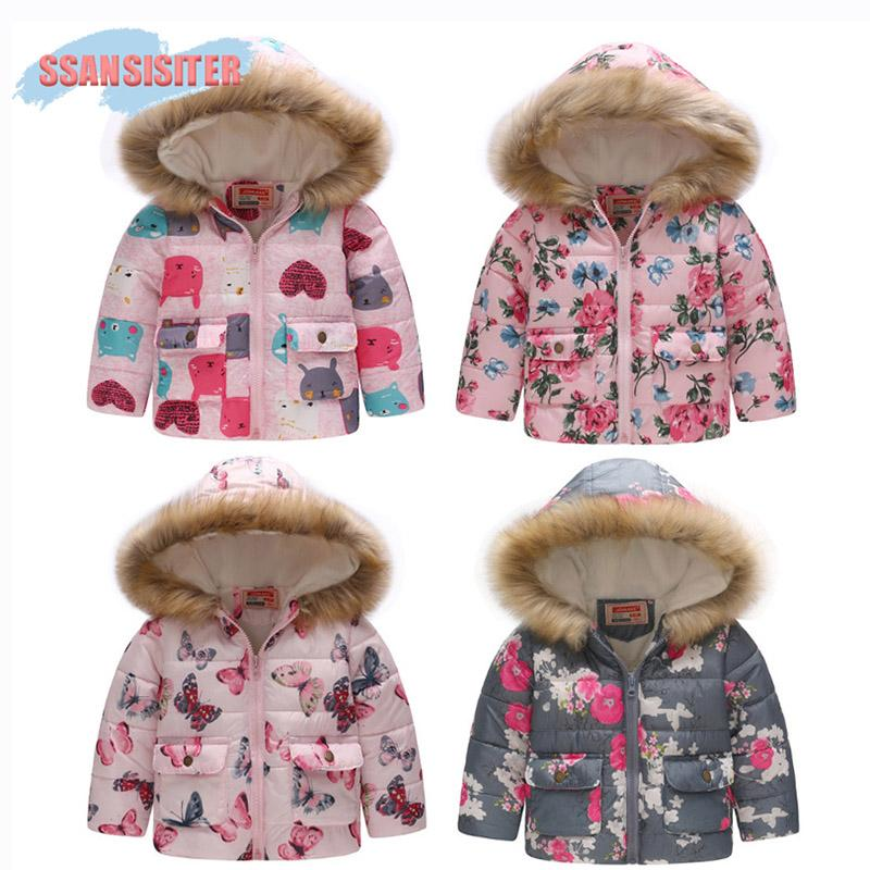 72b7d28a84c9 Children Coat Baby Girls Boys Fur Hooded Coats Long Sleeve Warm Pocket  Jacket Heavyweight Outerwear Cute Cartoon Winter Fleece Teen Boys Winter  Coats 2t ...