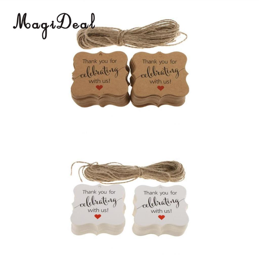 magideal thank you for celebrating with us gift tags hanging labels wedding birthday new year baby shower party favor unique wedding favours unique wedding
