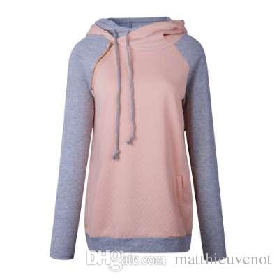 4275b1d2b73b 2019 Oversize Hoodies Sweatshirts Women Pullover Hoodie Female Patchwork Double  Hood Hooded Sweatshirt Autumn Coat Warm Hoody XXXL From Matthieuvenot