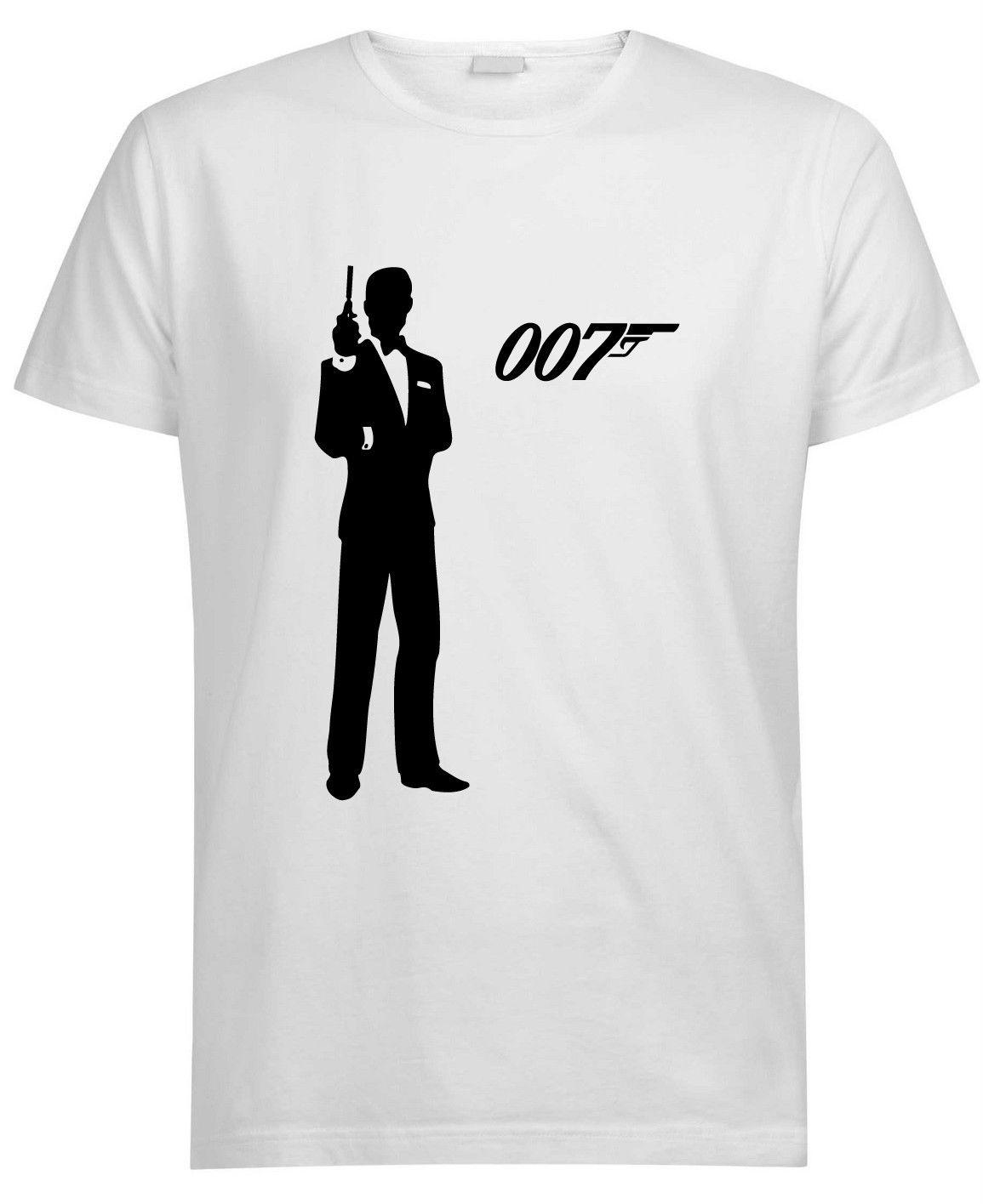 875e7f26 James Bond 007 T Shirt Retro Fancy Dress 80s All Sizes Funny Unisex Casual  Tshirt Gift T Shirt Over Shirt Best T Shirt Site From Wildmarkstore, ...