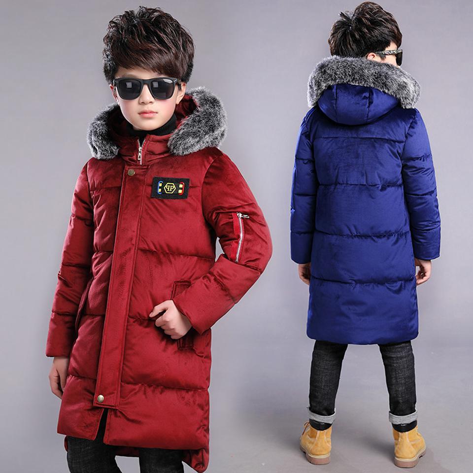 7db4f7e22 New 2018 Children Winter Jacket Boy Winter Coat Kids Warm Thick Fur ...