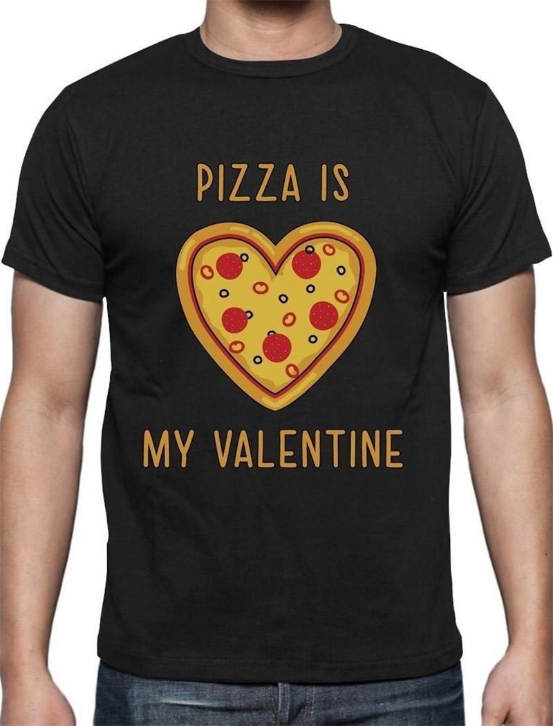 Make A T Shirt Short Men Pizza Lovers Crew Neck Short Sleeve T