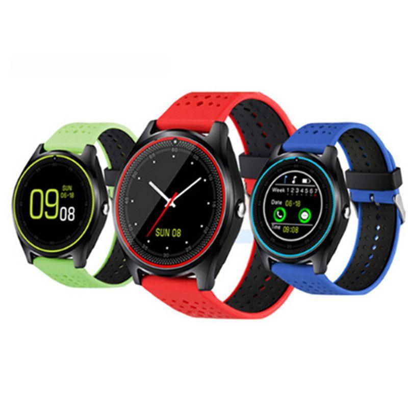 V9 smartwatch android V8 DZ09 U8 samsung montres intelligentes SIM montre intelligente de téléphone mobile peut enregistrer l'état de veille Montre intelligente