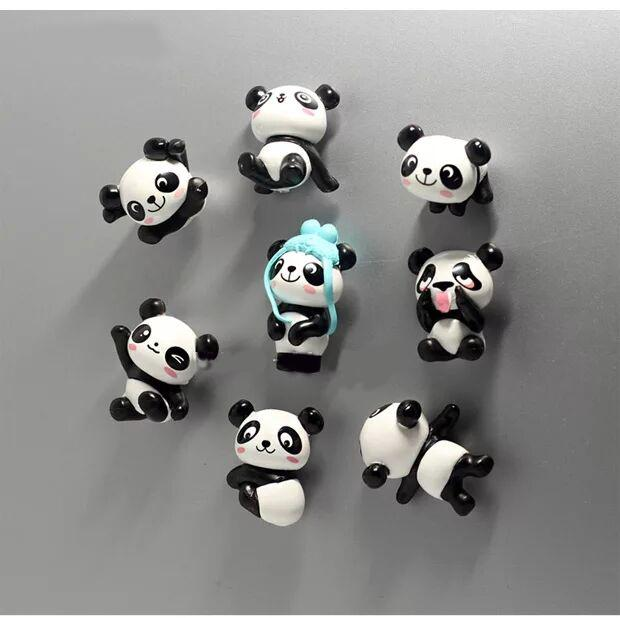 Cuddly panda cartoon stereo refrigerator stick creative decoration magnetic paste early education blackboard stick strong magnet