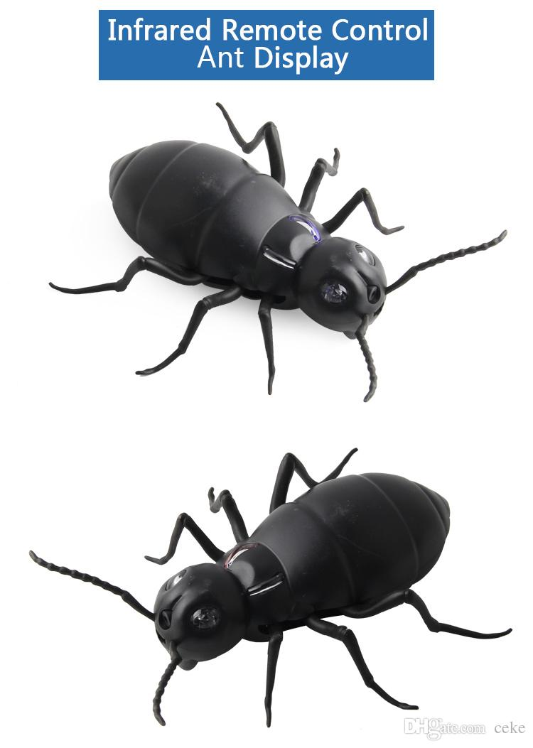 Funny Simulation Infrared RC Remote Ants Infrared Remote Control Insect Toys Ants Electric RC Toy Funny Kids Gifts