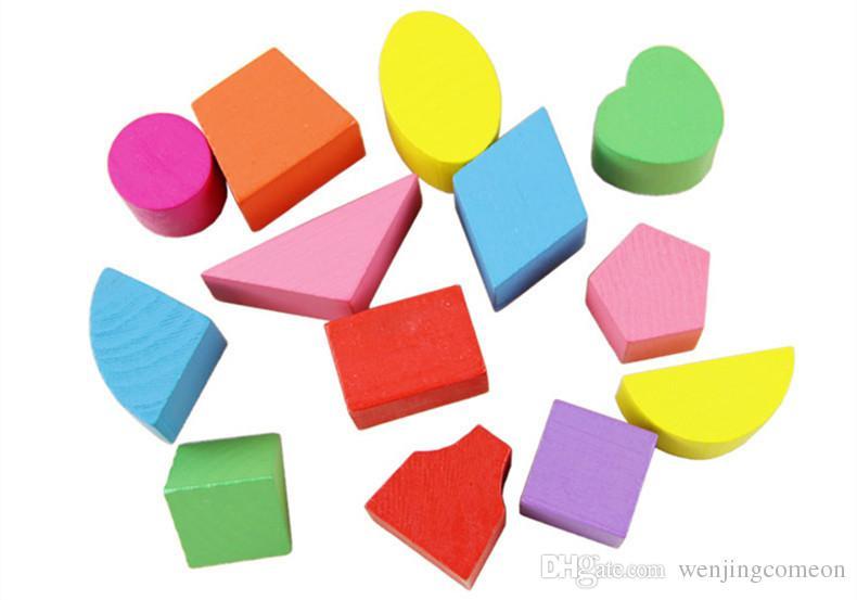 Juguetes para bebés forma clasificador cubo clásico educativo juguetes de madera para niños juguetes intelectuales cuadro de geometría caja de regalo de cumpleaños