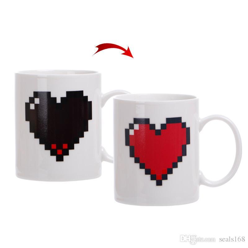 301-400 ml Takımyıldızı Kupa Yıldız Burcu Sihirli Kupa Bardak Değişim Renk Çay kahve Su Bardağı Serin Isı Değiştirme Renk Seramik Bardak 6 Renkler HH7-1017