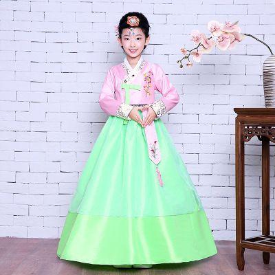 70838faf9 2019 Girl Korean Traditional Costume Children Minority Folk Ancient ...